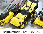 yellow electric scarifiers in...   Shutterstock . vector #1242107278