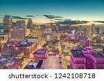 detroit  michigan  usa downtown ... | Shutterstock . vector #1242108718
