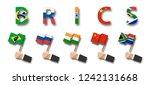brics . association of 5... | Shutterstock .eps vector #1242131668