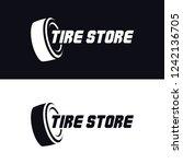 tyre shop logo design   tyre... | Shutterstock .eps vector #1242136705