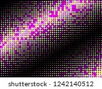 colorful halftone dots. rainbow ... | Shutterstock .eps vector #1242140512