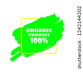 organic products icon  food... | Shutterstock .eps vector #1242144202