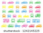 collar stickers of simple car   ... | Shutterstock .eps vector #1242145225