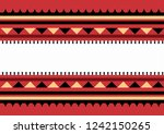 traditional folk sadu arabian... | Shutterstock .eps vector #1242150265