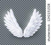 vector 3d white realistic... | Shutterstock .eps vector #1242151528