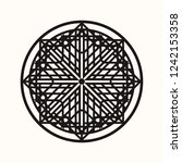sacred geometry. eight pointed... | Shutterstock .eps vector #1242153358