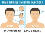 man's anti aging skin care and... | Shutterstock . vector #1242158368