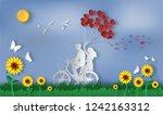 couple in love  happy couple...   Shutterstock .eps vector #1242163312