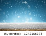 winter christmas background... | Shutterstock . vector #1242166375
