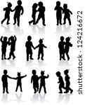 vector illustration of children   Shutterstock .eps vector #124216672
