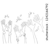 hand applause sketch doodle | Shutterstock .eps vector #1242166792