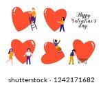 happy valentine's day. various... | Shutterstock .eps vector #1242171682