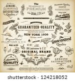 vector set  calligraphic design ... | Shutterstock .eps vector #124218052