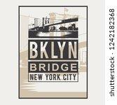 brooklyn bridge typography  tee ... | Shutterstock .eps vector #1242182368