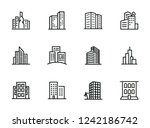 cityscape line icon set. set of ... | Shutterstock .eps vector #1242186742