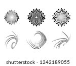 lines in circle form . spiral... | Shutterstock .eps vector #1242189055