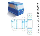 retail car bus box with... | Shutterstock .eps vector #1242190528