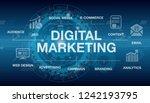 digital marketing abstract... | Shutterstock .eps vector #1242193795