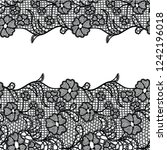 seamless lace border. vector... | Shutterstock .eps vector #1242196018