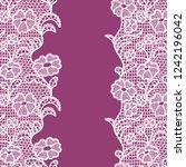 seamless lace border. vector... | Shutterstock .eps vector #1242196042
