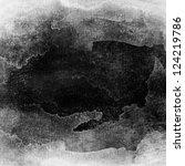 gray scale watercolor macro... | Shutterstock . vector #124219786