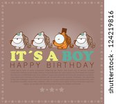 funny happy birthday greeting... | Shutterstock .eps vector #124219816
