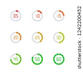 set of simple timers. set of... | Shutterstock .eps vector #1242200452