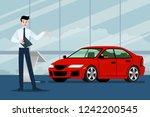 a happy businessman  salesman... | Shutterstock .eps vector #1242200545