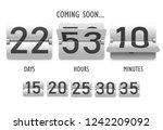 coming soon  countdown ... | Shutterstock .eps vector #1242209092