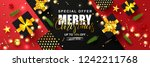 merry christmas sale poster... | Shutterstock .eps vector #1242211768