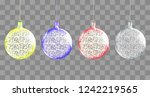 shiny christmas ball. realistic ... | Shutterstock .eps vector #1242219565