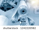 the raw material for plastic... | Shutterstock . vector #1242220582