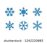 set of snowflake icons | Shutterstock .eps vector #1242220885