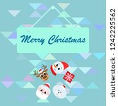 christmas card  santa snowman... | Shutterstock .eps vector #1242225562