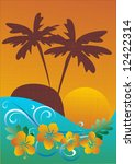 tropical background | Shutterstock .eps vector #12422314