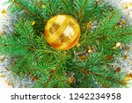 christmas or new year ornament. ... | Shutterstock . vector #1242234958