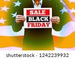 businessman hands holding black ... | Shutterstock . vector #1242239932