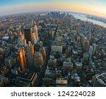 aerial panoramic fish eye view... | Shutterstock . vector #124224028