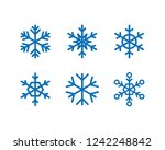 snowflakes vector icons  snow... | Shutterstock .eps vector #1242248842