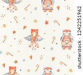 christmas seamless patternd... | Shutterstock . vector #1242251962