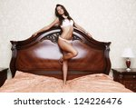 young brunette sexy glamour... | Shutterstock . vector #124226476