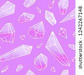 crystal vector seamless pattern ... | Shutterstock .eps vector #1242267148