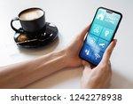 smart home control application...   Shutterstock . vector #1242278938
