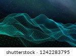 abstract landscape on a dark... | Shutterstock . vector #1242283795