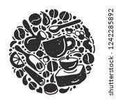 vector symbol in circle. aroma... | Shutterstock .eps vector #1242285892