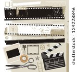 set of grungy filmstrips and... | Shutterstock .eps vector #124228846