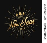 happy new year 2019.vector... | Shutterstock .eps vector #1242289045
