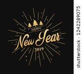 happy new year 2019. ... | Shutterstock . vector #1242289075
