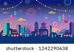 chinese new year   city... | Shutterstock .eps vector #1242290638