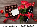 valentines day with red roses ... | Shutterstock . vector #1242294265